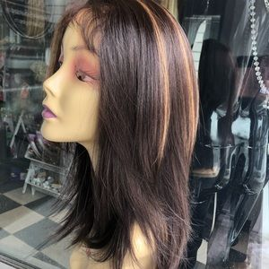 Accessories - Fulllace babyhair bob Wig brown Highlight 2019 Wig